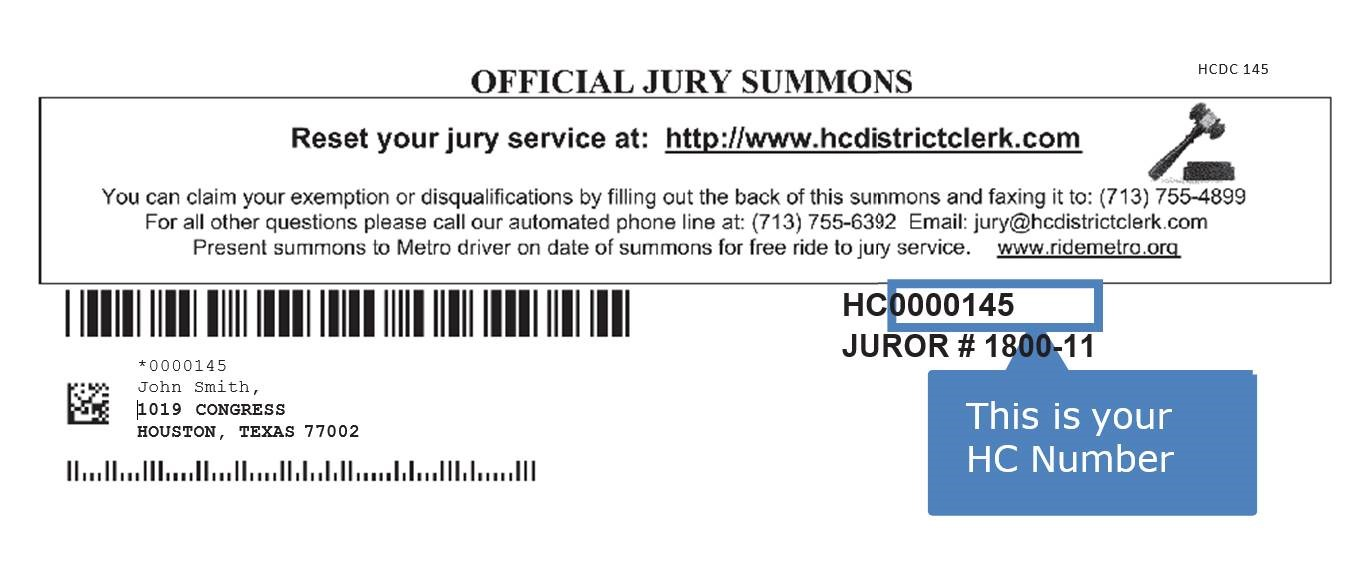 Writing A Letter To Be Excused From Jury Duty from www.hcdistrictclerk.com